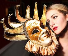 Hand Painted Full Face Jester Jolly Joker Gold Venetian M... https://www.amazon.com/dp/B01H0GS23S/ref=cm_sw_r_pi_dp_x_sVEPybY5WZN82