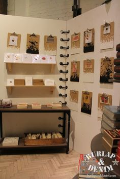 Craft show display idea - oversized notebook to catch attention Ina handmade stationery booth