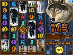 Lasst uns drehen online kostenlos Automaten Spiel Wolf Rising - http://freeslots77.com/de/wolf-rising/