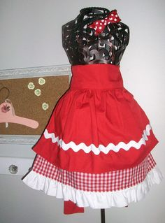 "Such a cute ""Little Red Riding Hood"" play apron! Found on Etsy..."