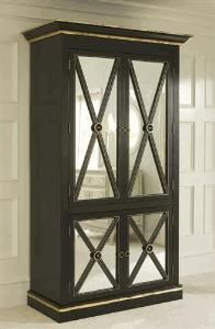 Black Regency Armoire. From www.wellappointedhouse.com
