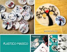 Botones plastico magico