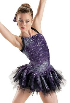 In gold/copper with sheer tutu underneath.