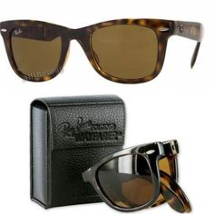 Folding authentic rayban wayfarer. Bought new, lightly used, I kind of love these glasses because of how small the case is! They can fit in the tiniest of purses! Toying with the idea of selling - make an offer. Ray-Ban Other