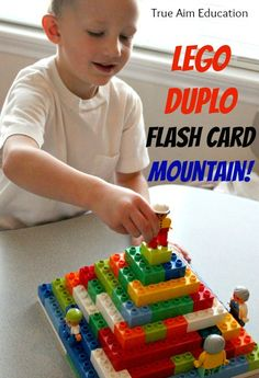 Create a Lego Duplo Learning Game.  This simple activity combines building, imaginary play, and learning!  With it, you can teach your kids just about anything.