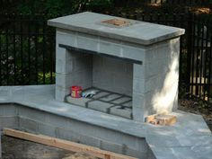 """Acquire terrific ideas on """"outdoor fire pit ideas"""". They are actually on call for you on our internet site. Outdoor Fireplace Plans, Outside Fireplace, Outdoor Fireplace Designs, Backyard Fireplace, Fire Pit Backyard, Backyard Patio, Backyard Landscaping, Outdoor Fireplaces, Outdoor Patios"""