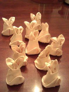 Easter Bunny Napkin Folds
