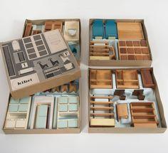 Anonymous; Modern Dollhouse Furniture by Kibri, Kindler & Briel, 1960s.