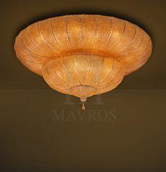 ΜΑΥΡΟΣ -- Κλασικό φωτιστικό οροφής με φύλλα Μουράνο | CASTELLO