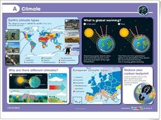 "Unidad 3 de Social Science de 5º de Primaria: ""Climate"" Weather And Climate, Carbon Footprint, Social Science, Global Warming, Map, Socialism, Primary English, Interactive Activities, Teaching Resources"