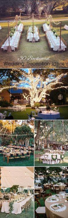 30 inspirational backyard wedding ideas
