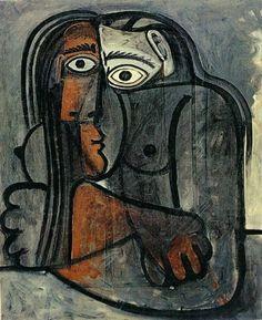 Pablo Picasso , nu les bras croises 1960