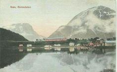 Møre og Romsdal fylke  Næs =( Åndalsnes i dag) Romsdalen. Kolorert. Utg C. A. Erichsen Ca 1900