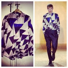 Paul Smith Fall Winter 2013. The mottled triangle shirt.