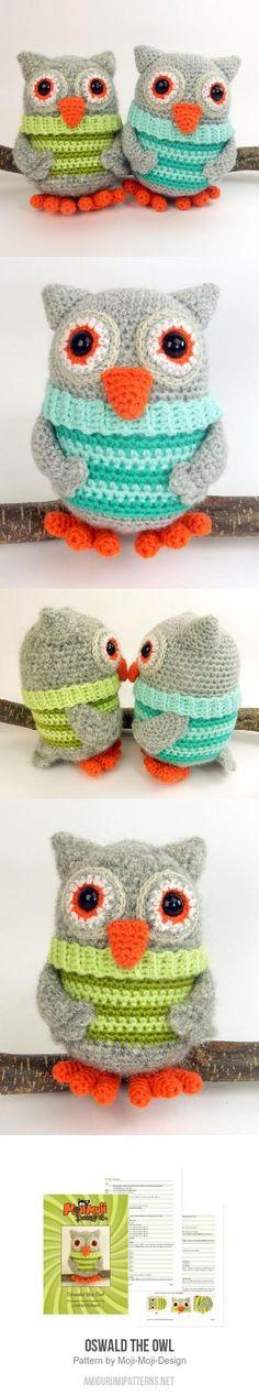 Oswald the Owl amigurumi pattern