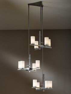 """this product is slope ceiling adaptable to 45 degrees. DIMENSIONS: 68.3"""" h. x 28.5"""" l. x 27.5"""" w. ADJUSTABLE HEIGHT:  SIZE  MINIMUM  MAXIMUM  Standard50""""70.5"""" MAX. HANGING WEIGHT: 30 lbs. SOCKET TYPE: G-9 halogen BULB: (12) G-9, 60 watt max."""