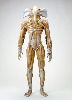anatomía de las criaturas mitológicas- genial arte del japonés Masao Kinoshita.