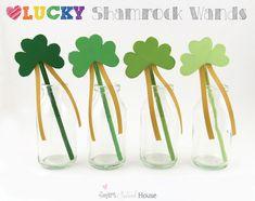 Lucky Shamrock Wands - cute!