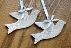 Beautiful Ceramic ivory cream white dove of peace by TaitGallery, £9.00