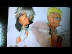 Speed Drawing Naruto e Sasuke - BORUTO: Naruto the Movie  With FINECOLOR...