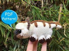 PDF PATTERN for Crochet Appa Amigurumi doll toy plushie Avatar the Last Airbender - Mammals Crochet Geek, Cute Crochet, Crochet Crafts, Crochet Toys, Crochet Projects, Crochet Disney, Quick Crochet, Knitted Dolls, Amigurumi Doll
