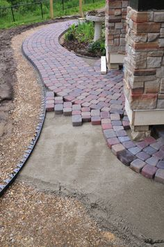 Block Paving In Progress Using Canberra Red Bricks