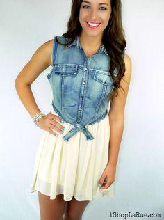 Cute summer dress!  #ishoplarue