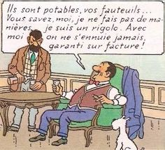 Séraphin Lampion pique-assiettes • Jolyon Wagg and Captain Haddock • Tintin, Herge j'aime