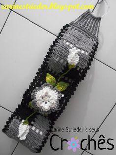 Carine Strieder e seus Crochês: Porta Papel Higiênico em crochê