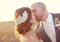 Crystal Applique Bridal Hairstyle
