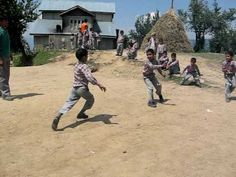 Kids playing 'kabaddi' at school