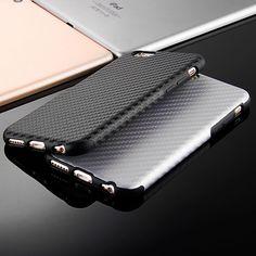 2017 새로운 내구성 섬유 탄소 부드러운 case 대한 iphone 6 6s 4.7 플러스 5.5 실리콘 TPU 커버 가죽 스킨 매트 위로 카파 안티 노크