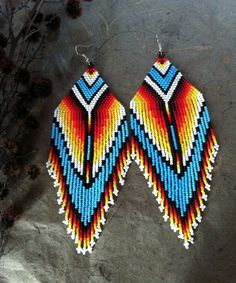 Native american style Beadwork, native american beaded earrings | Jewelry & Watches, Fashion Jewelry, Earrings | eBay!