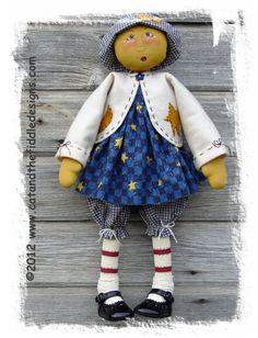 CF168 Moonbeam PDF ePattern Cloth Doll Pattern by CatAndTheFiddle
