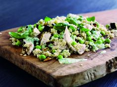 Couscous med kylling og basilikumcreme