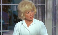 Doris's shock face in Move Over Darling