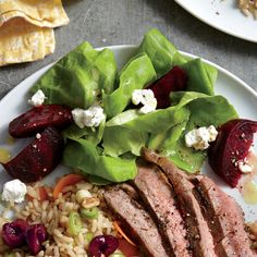 Learn how to make Butter Lettuce and Beet Salad . MyRecipes has tested recipes and videos to help you be a better cook Beet Recipes Healthy, Beet Salad Recipes, Vegetarian Salad Recipes, Salad Recipes For Dinner, Food Salad, Diabetic Recipes, Side Dishes Easy, Side Dish Recipes, Sin Gluten