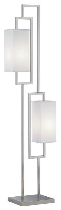 Possini Euro Floating Rectangles Steel Modern Floor Lamp - EuroStyleLighting.com