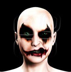 psycho clown face
