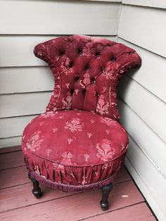 Rare amazing antique faded velvet french boho shabby nordic chic napoleon deconstructed chair tufted gypsy
