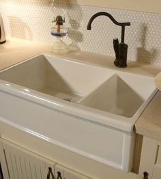 Novi Double Bowl Kitchen Sink in the Butler Style Sinks