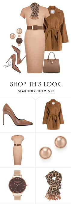 """""""Workwear"""" by pkoff ❤ liked on Polyvore featuring Yves Saint Laurent, MaxMara, River Island, Bloomingdale's, Olivia Burton, Charlotte Russe and Dolce&Gabbana"""