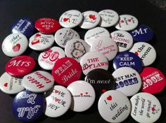 30 Wedding Favour Designs. Wedding Favour Badges, created by Especially Yours.  A great gift and reminder of your special day.