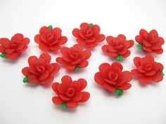 fimo flower bead F by ThirdEarDear on Etsy, $1.10