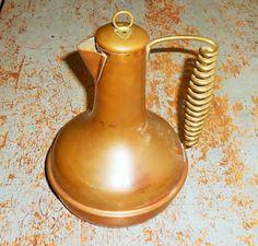 Vintage Coffee Pot, Copper, Tea Kettle, Brass, Coiled Handle, Copper Pot, Metal, Copper Decor, Copper Coffee Pot by TheBackShak on Etsy