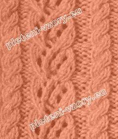 Vzor č. 1 - Kaleidoskop vzorů pro ruční pletení Vzory Na Pletení 2e6cd33d5b