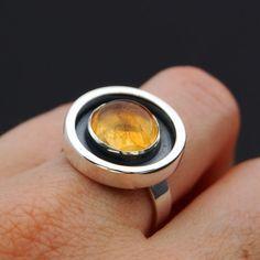 Honey Honey Sterling silver ring with citrine