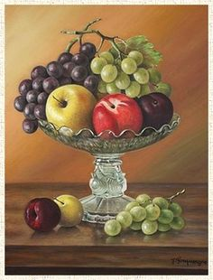 Decoup. Fruit Painting, China Painting, Fruit Photography, Still Life Photography, Fruit Bowl Drawing, African Pottery, Colored Pencil Artwork, Illustration Art, Illustrations