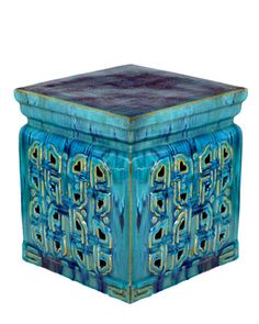 """Vintage Ceramic Garden Stool at Horchow 