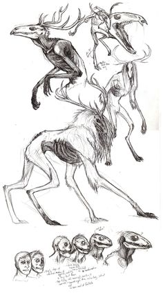 Wendigo Sketches by ~Beltaguise on deviantART